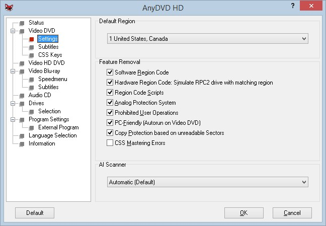 anydvd removable copy protections
